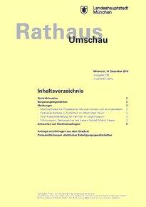 Rathaus Umschau 238 / 2016