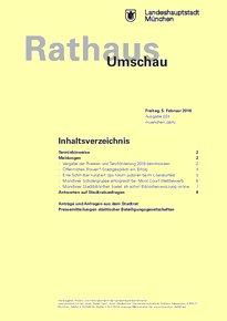 Rathaus Umschau 24 / 2016
