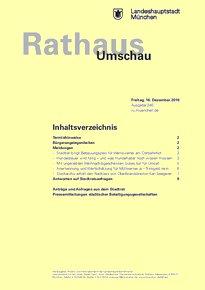 Rathaus Umschau 240 / 2016