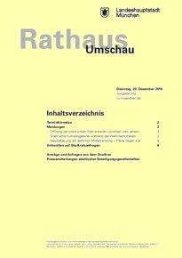 Rathaus Umschau 242 / 2016