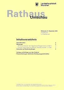 Rathaus Umschau 243 / 2016