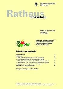Rathaus Umschau 245 / 2016