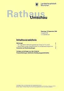 Rathaus Umschau 246 / 2016