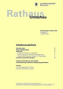 Rathaus Umschau 25 / 2016