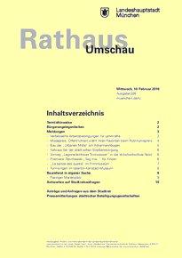 Rathaus Umschau 26 / 2016