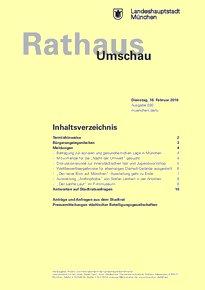 Rathaus Umschau 30 / 2016