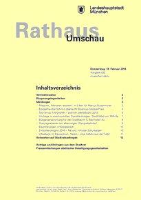 Rathaus Umschau 32 / 2016