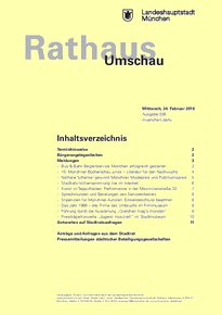 Rathaus Umschau 36 / 2016