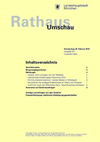 Rathaus Umschau 37 / 2016