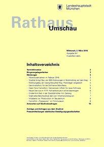 Rathaus Umschau 41 / 2016