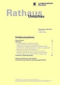 Rathaus Umschau 42 / 2016
