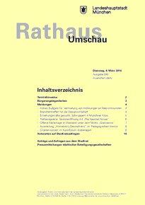 Rathaus Umschau 45 / 2016
