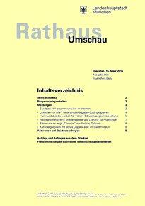 Rathaus Umschau 50 / 2016
