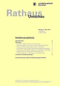 Rathaus Umschau 54 / 2016