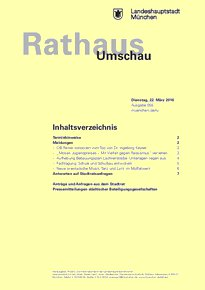 Rathaus Umschau 55 / 2016