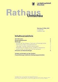Rathaus Umschau 58 / 2016