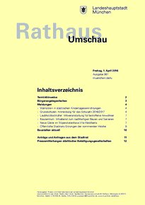 Rathaus Umschau 61 / 2016