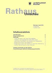 Rathaus Umschau 63 / 2016