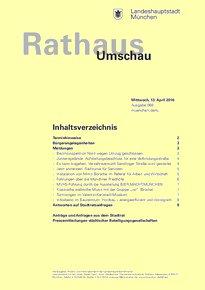 Rathaus Umschau 69 / 2016