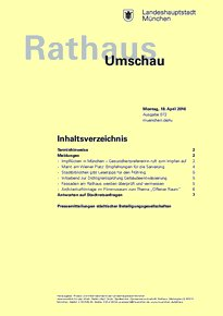 Rathaus Umschau 72 / 2016
