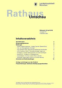 Rathaus Umschau 74 / 2016