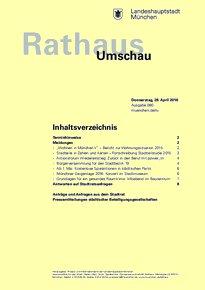 Rathaus Umschau 80 / 2016