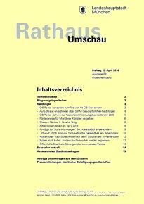 Rathaus Umschau 81 / 2016