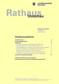 Rathaus Umschau 83 / 2016
