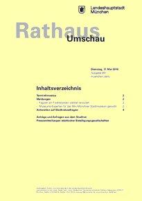 Rathaus Umschau 91 / 2016
