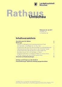 Rathaus Umschau 140 / 2017