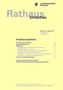 Rathaus Umschau 145 / 2017