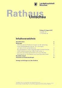 Rathaus Umschau 156 / 2017