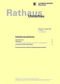 Rathaus Umschau 157 / 2017