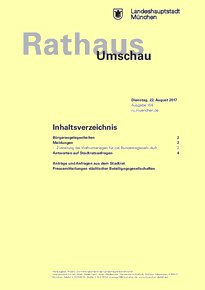 Rathaus Umschau 158 / 2017
