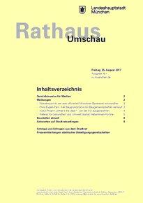 Rathaus Umschau 161 / 2017