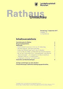 Rathaus Umschau 170 / 2017