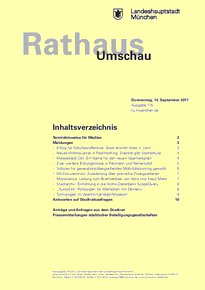 Rathaus Umschau 175 / 2017