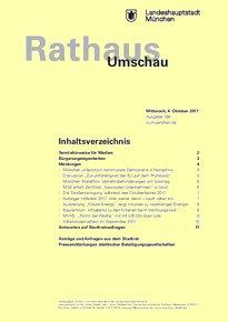 Rathaus Umschau 188 / 2017