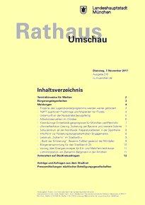 Rathaus Umschau 210 / 2017