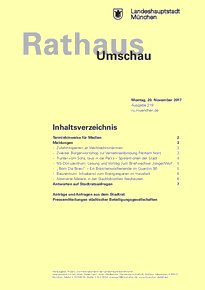 Rathaus Umschau 219 / 2017