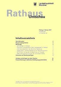 Rathaus Umschau 24 / 2017