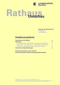 Rathaus Umschau 240 / 2017