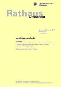 Rathaus Umschau 244 / 2017