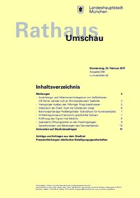 Rathaus Umschau 38 / 2017