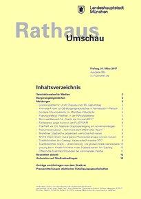 Rathaus Umschau 63 / 2017