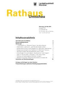 Rathaus Umschau 100 / 2018