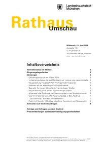 Rathaus Umschau 110 / 2018