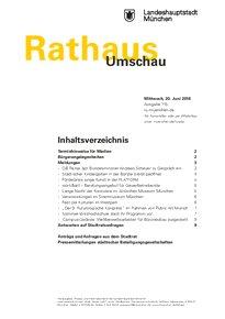Rathaus Umschau 115 / 2018