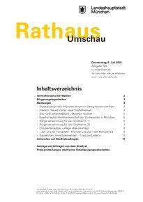 Rathaus Umschau 126 / 2018