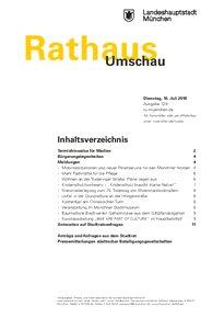 Rathaus Umschau 129 / 2018